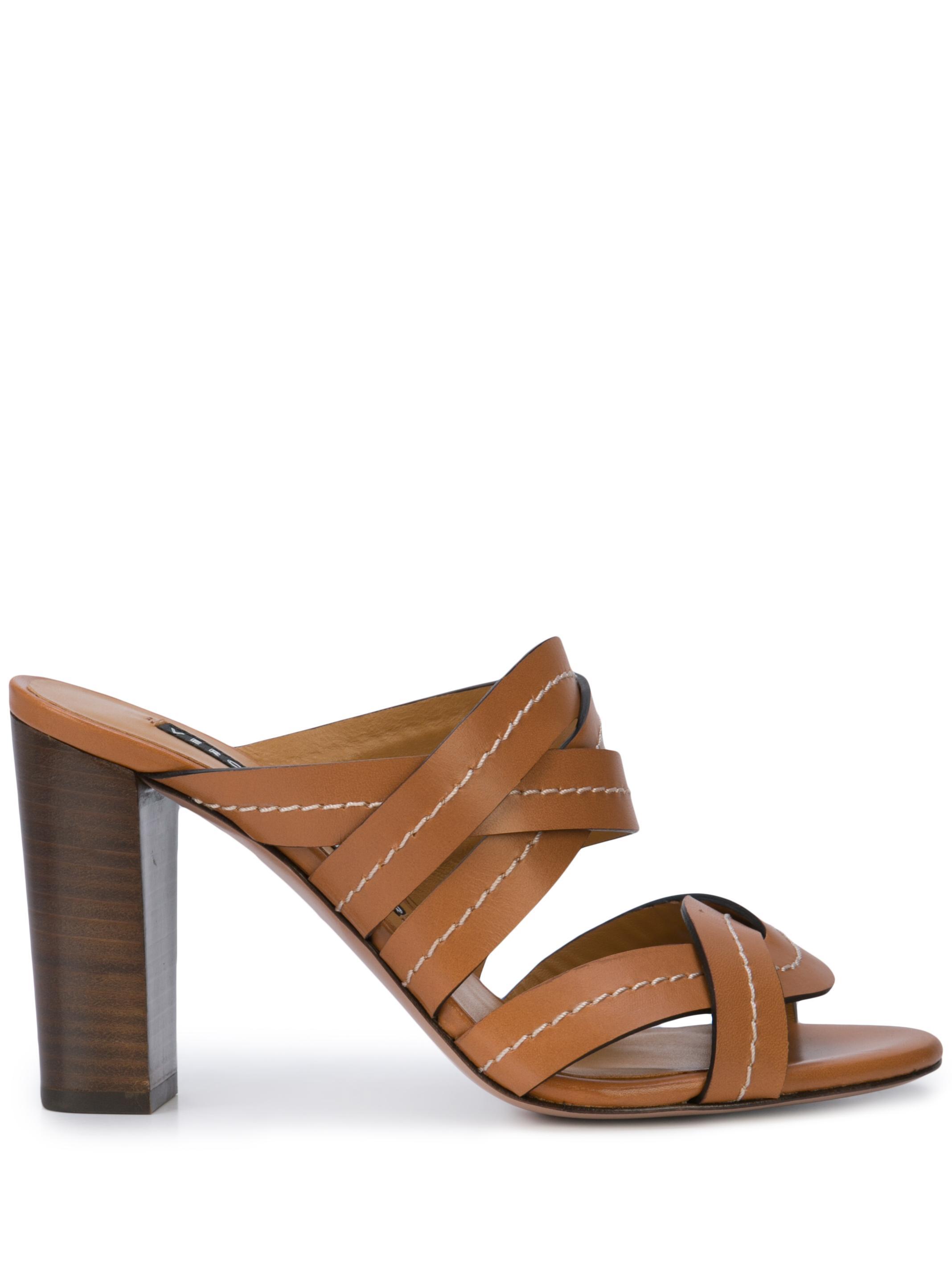 Criss Cross Stitch Leather Hihl Sandal Item # MACEY