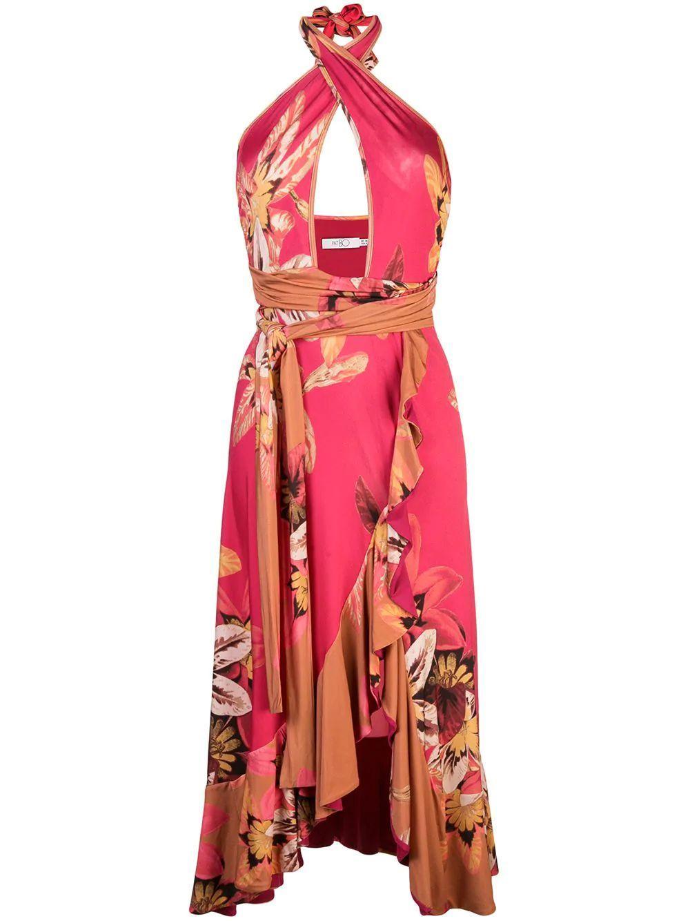 Floral Carmen Jersey Cross Front Item # VES1945US