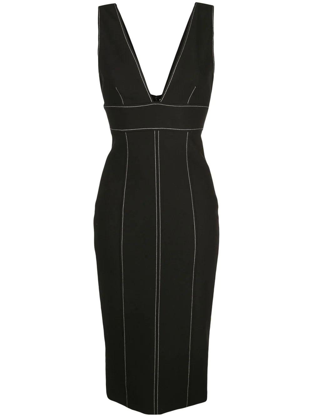 Taya Contrast Stitch Midi Dress