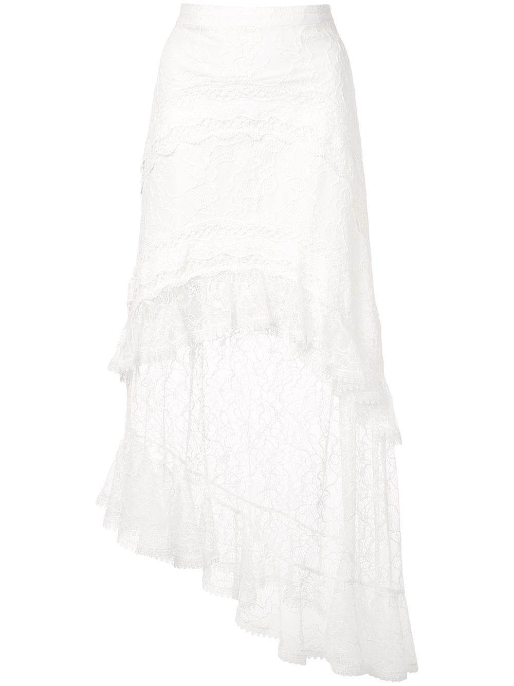 Lace Embroidered High Waist Maxi Skirt Item # FIRUZA