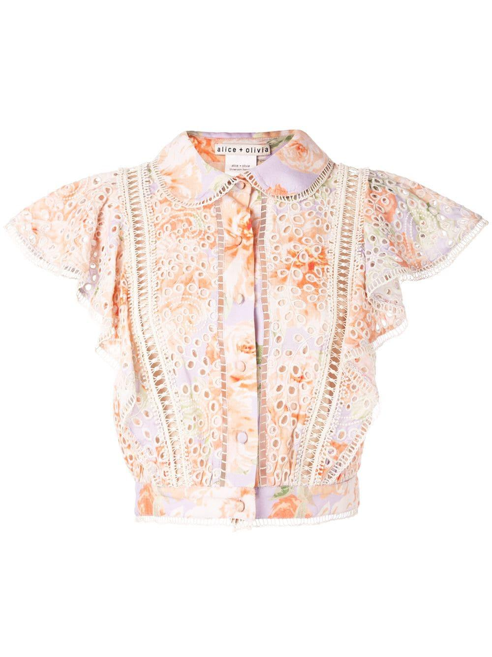 Caven Embroidered Eyelet Blouse Item # CC904D33001
