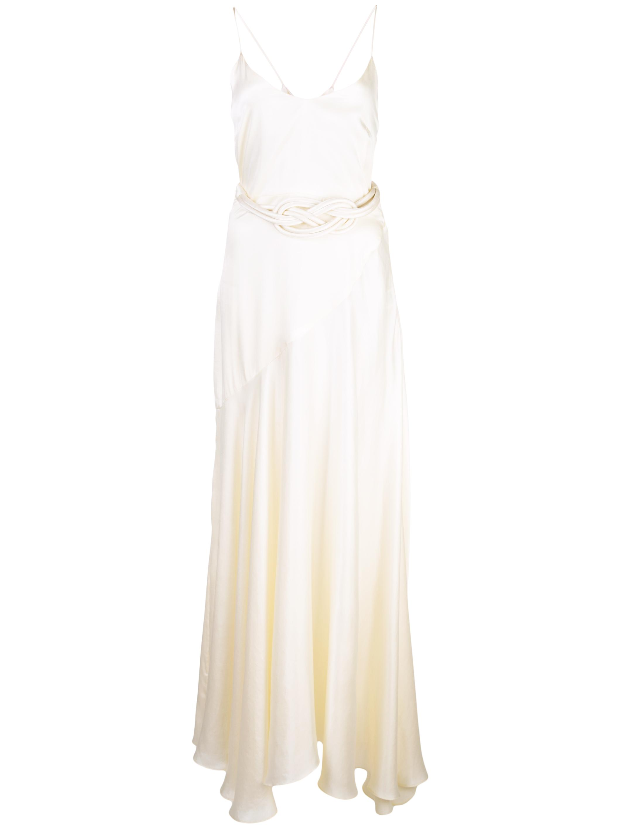 Silk Belted Slip Dress Item # W902204041