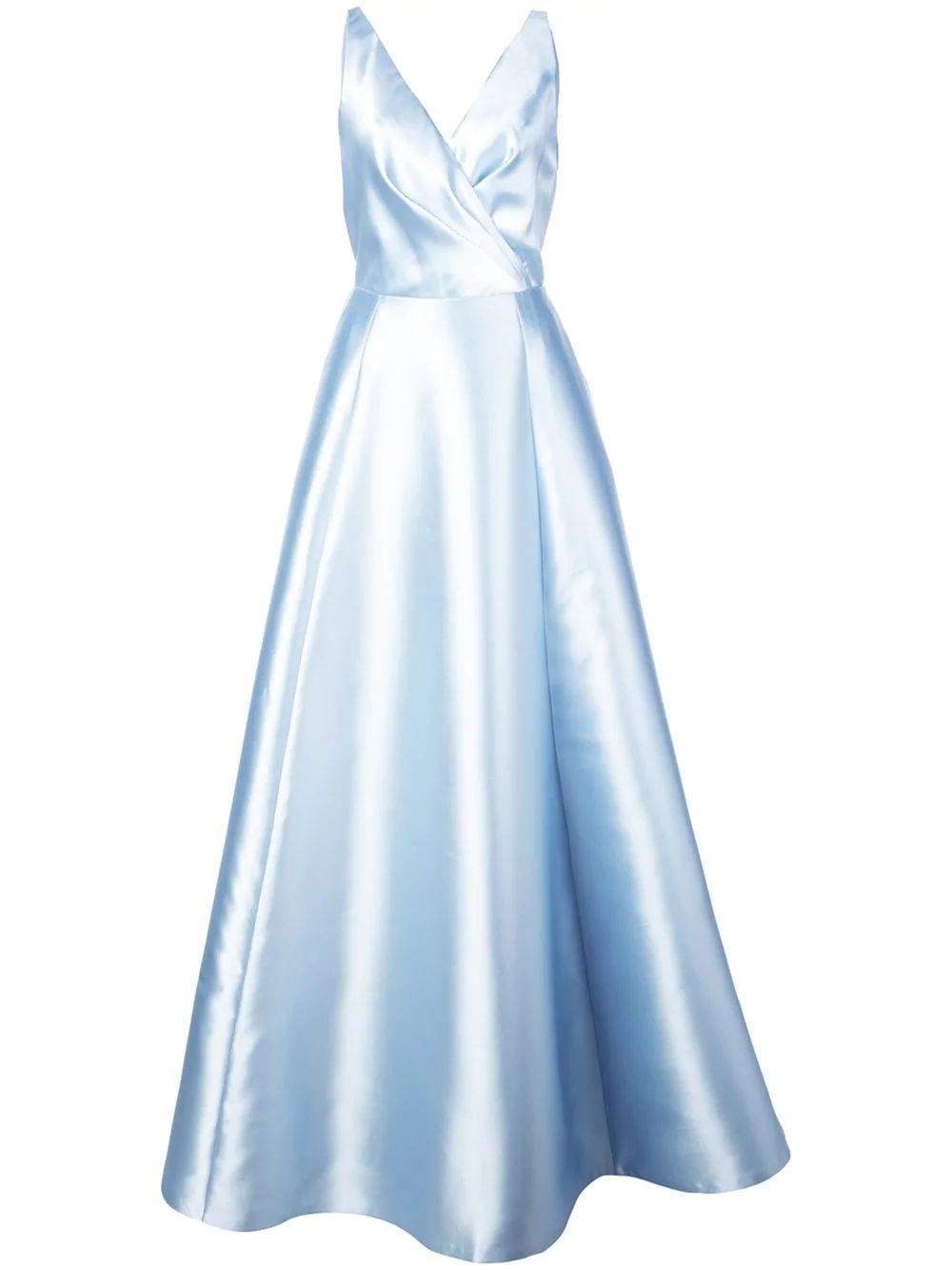 Rae V Neck Cross Top Full Gown Item # S29G20NM