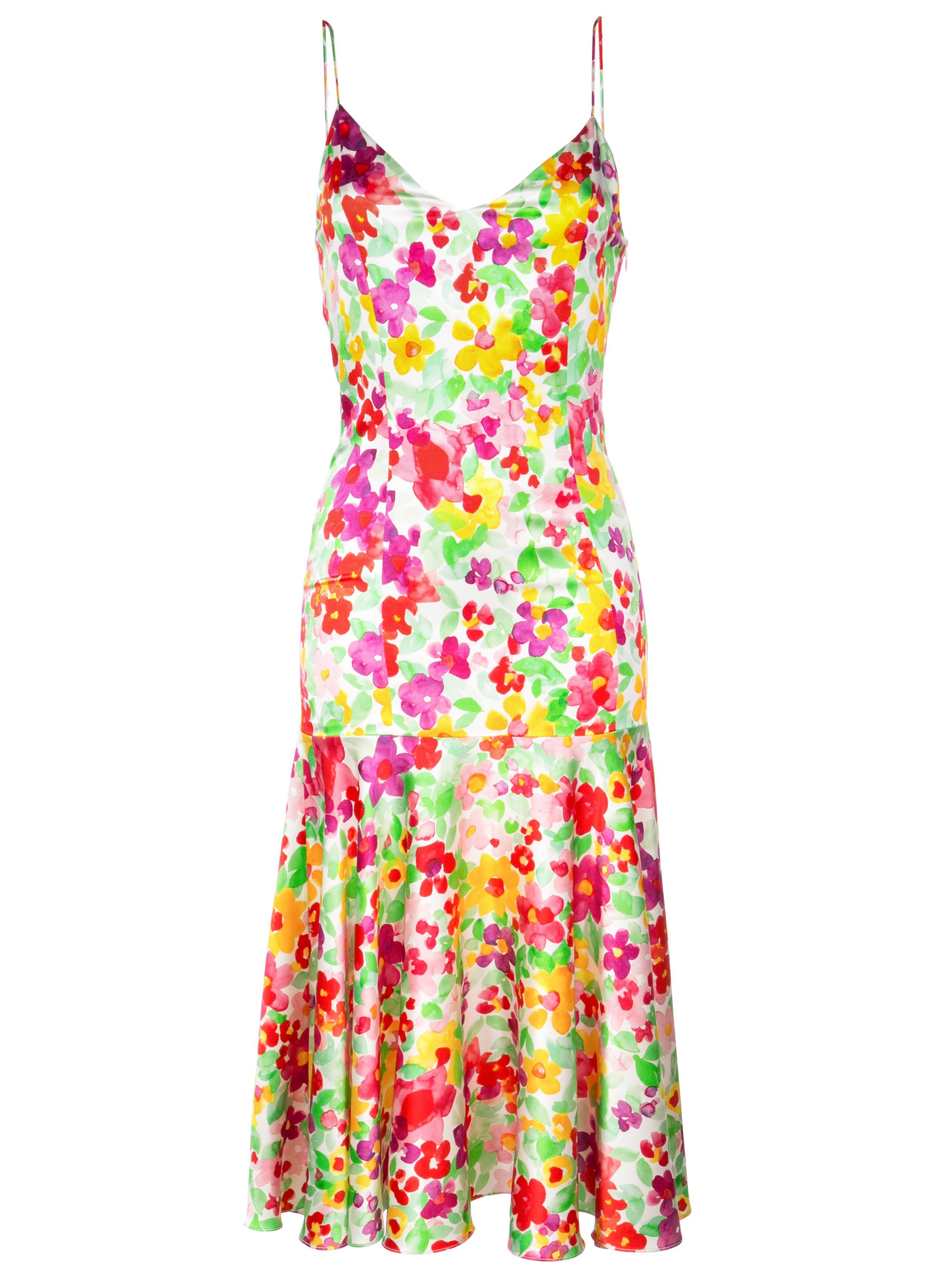 Kai Midi Floral Slip Dress Item # D266FPS-S19