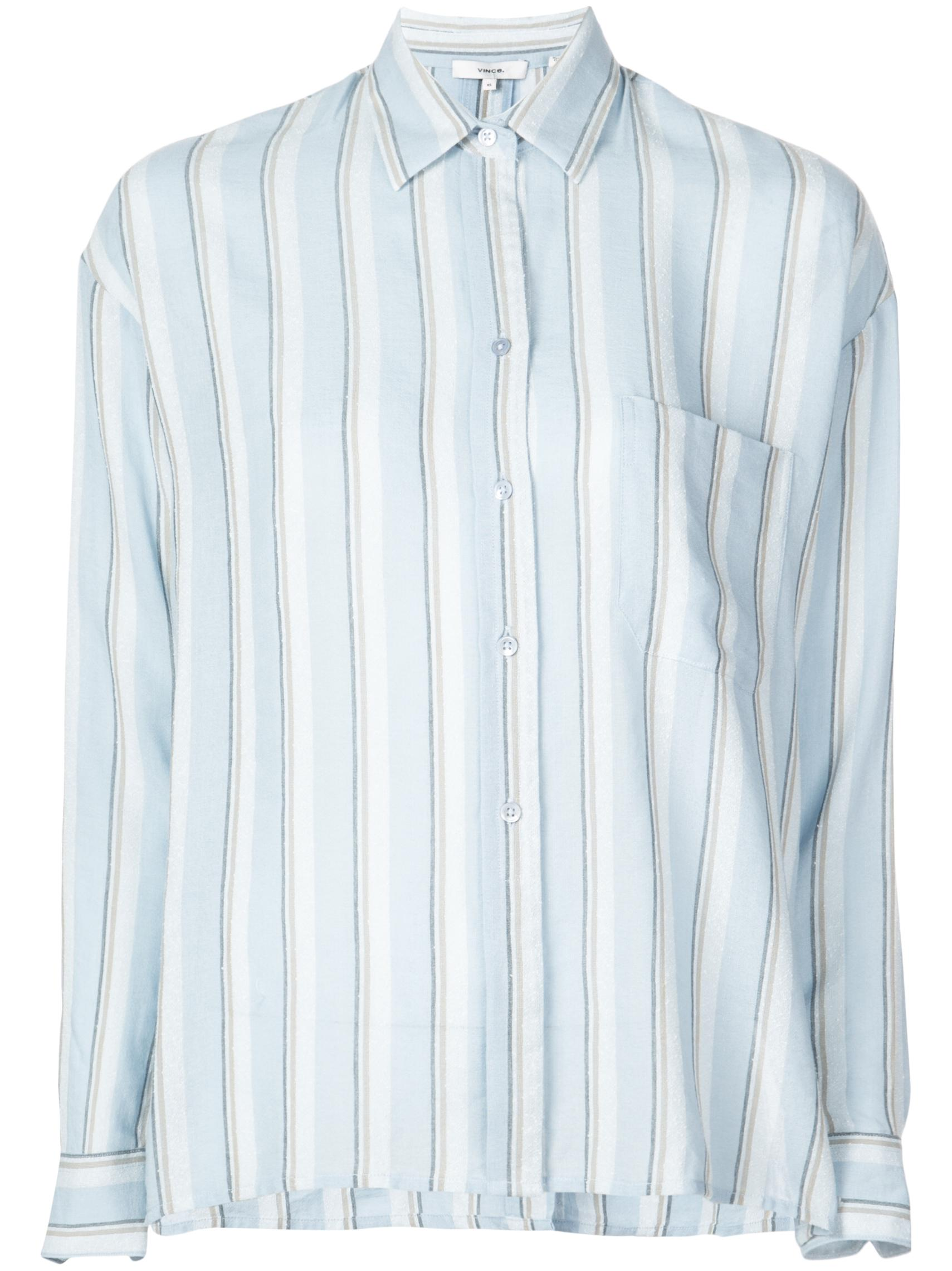 Textured Stripe Boxy Longsleeve Shirt