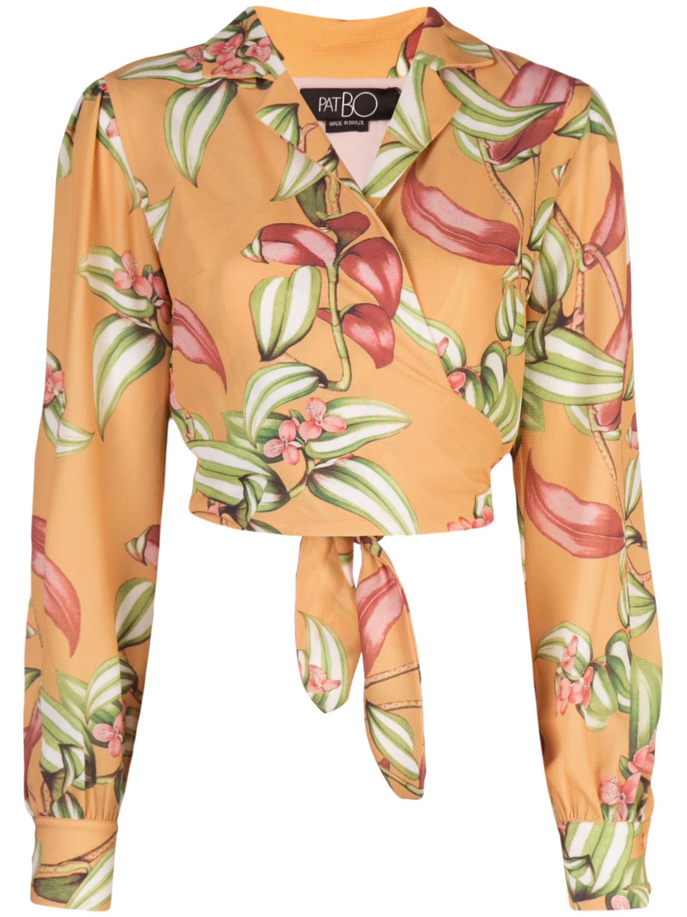 Zebrina Print Tie Front Crop Top