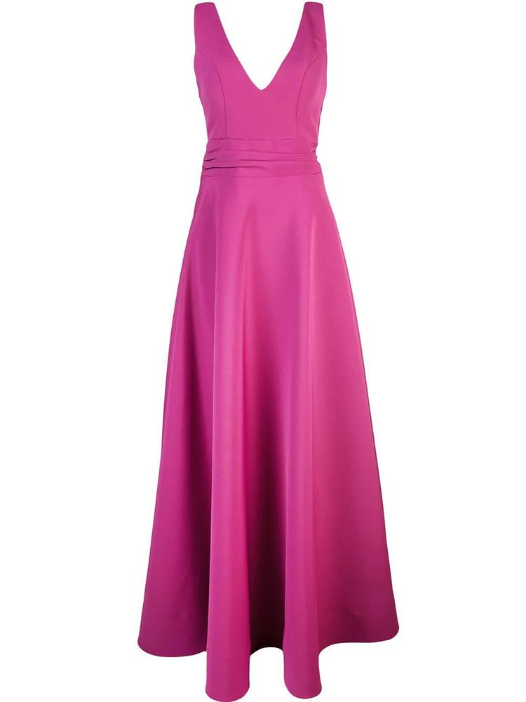 Olga Bow Back Clean Front Gown Item # S19-G162