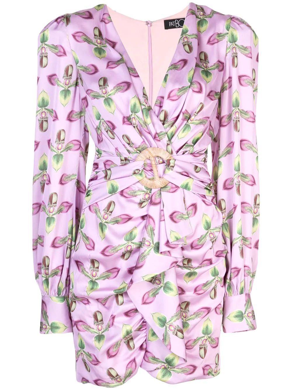 Long Sleeve Belted Mini Dress Item # VES2134CUS