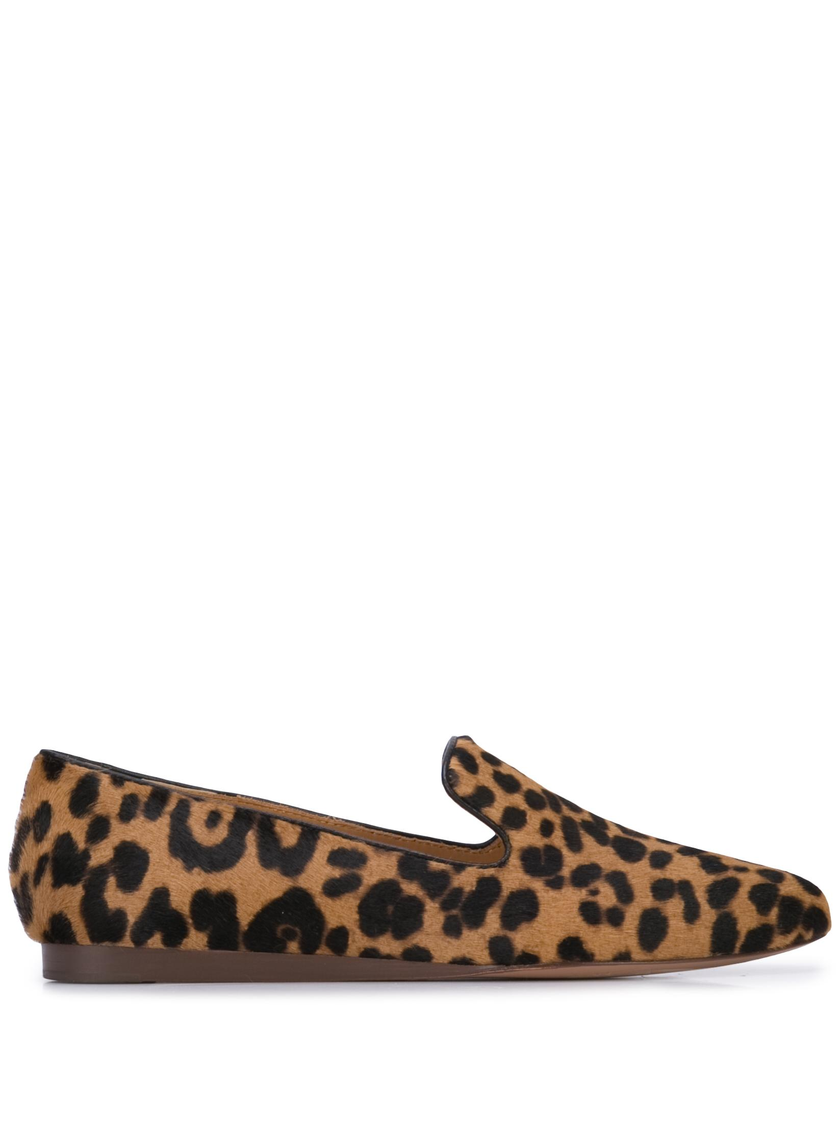 Griffin Leopard Calf Hair Flat