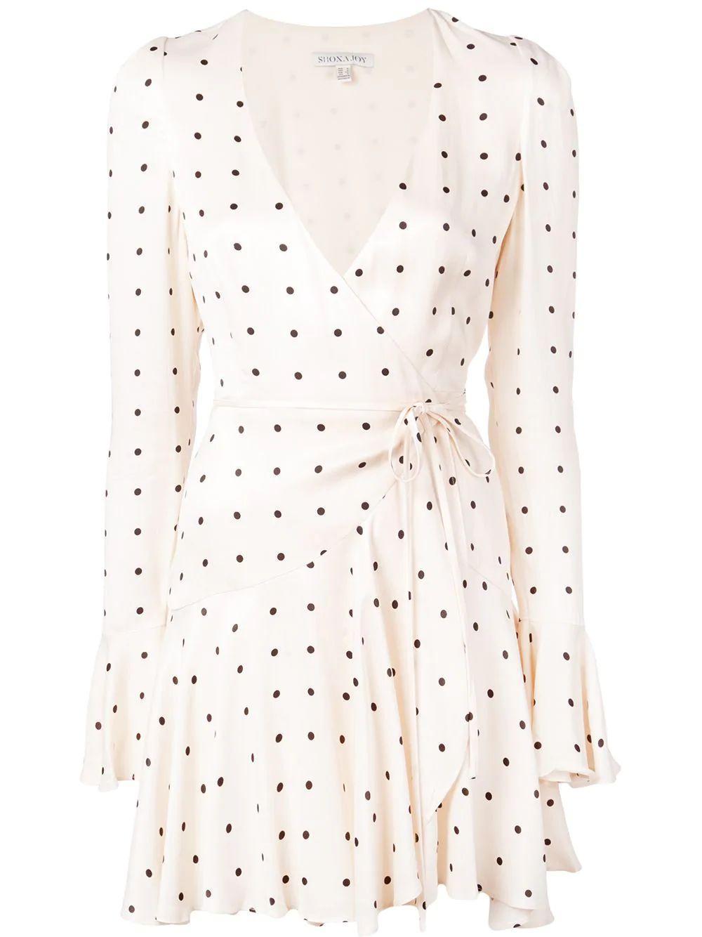 O'Dell Frill Cuff Wrap Mini Dress