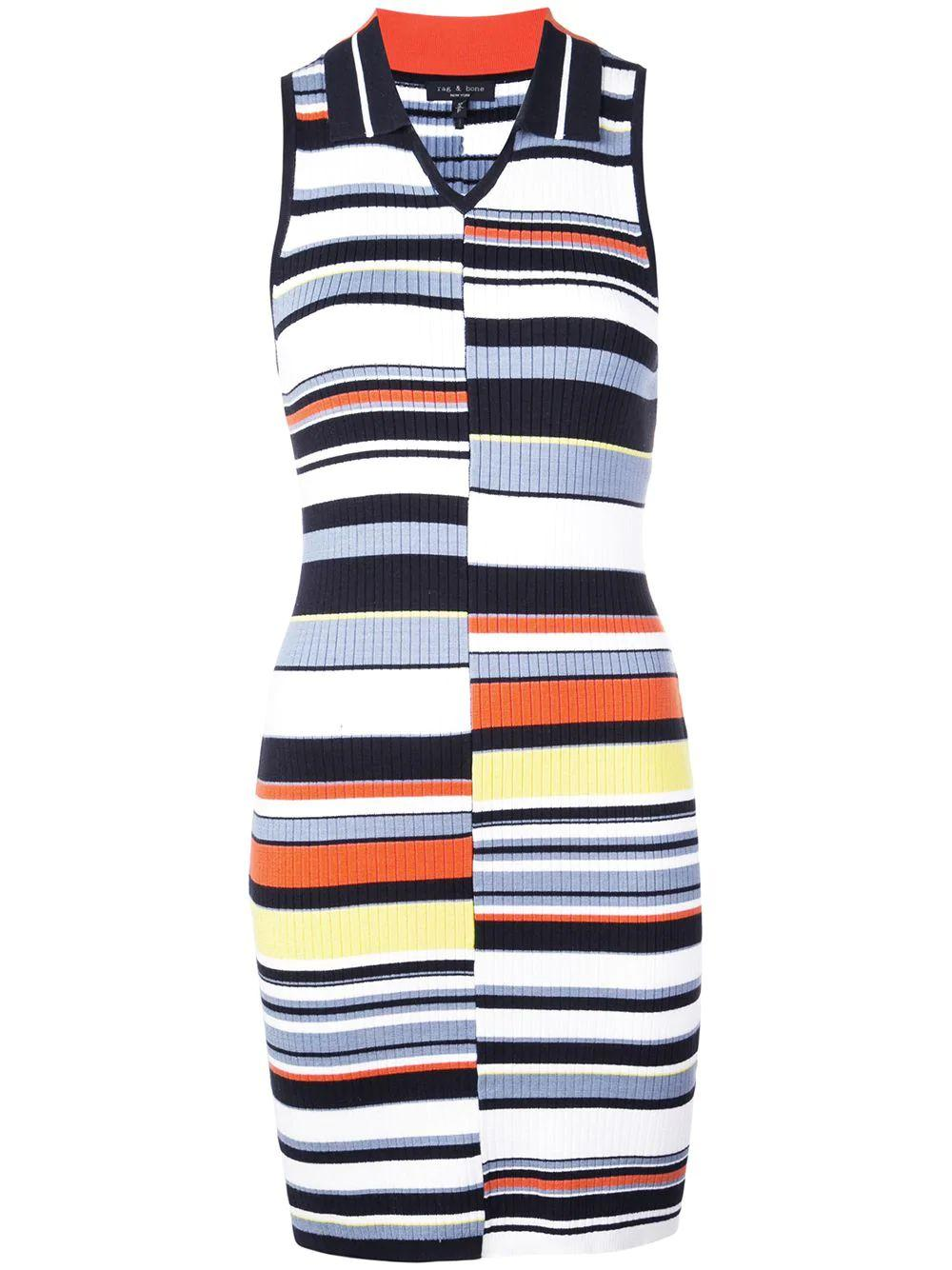 Mason Sleeveless Striped Knit Dress