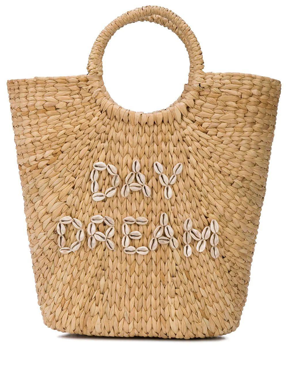 Bucket Bag Straw Shell