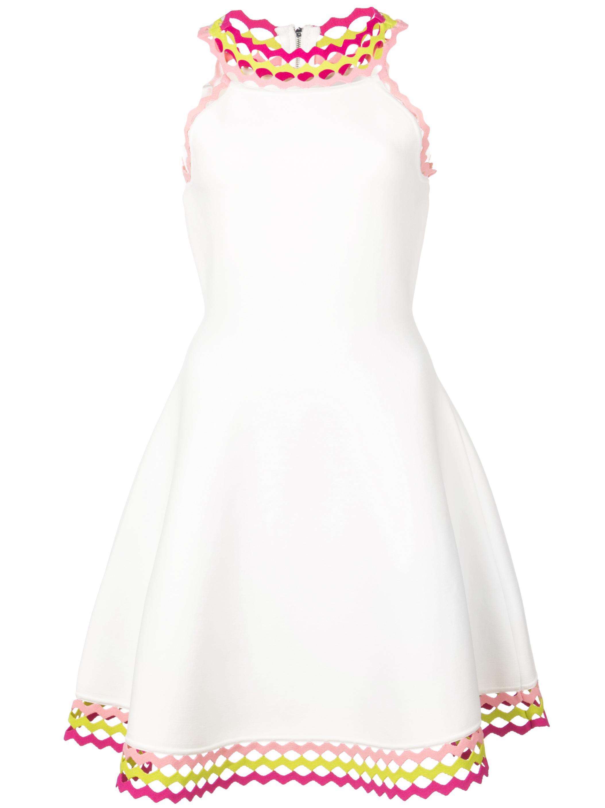 Knit Diamond Cut Flare Dress