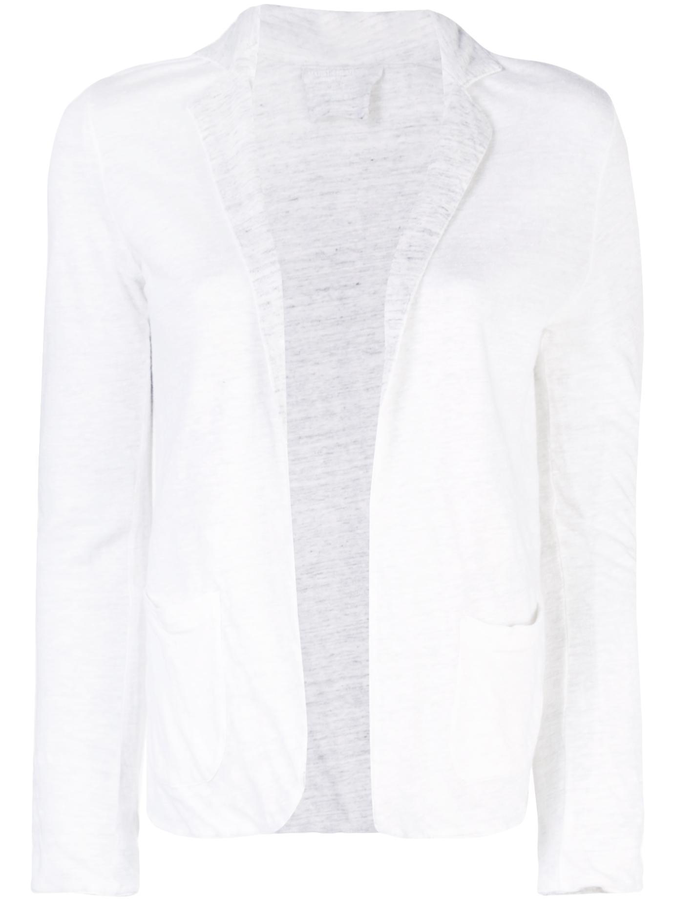 Linen Bicolor Long Sleeves Blazer