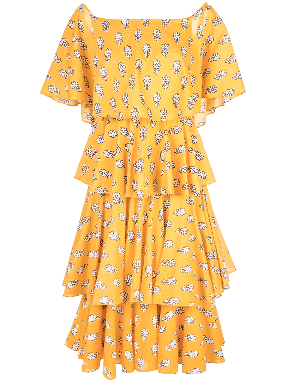 Lulu Cotton Off The Shoulder Midi Dress