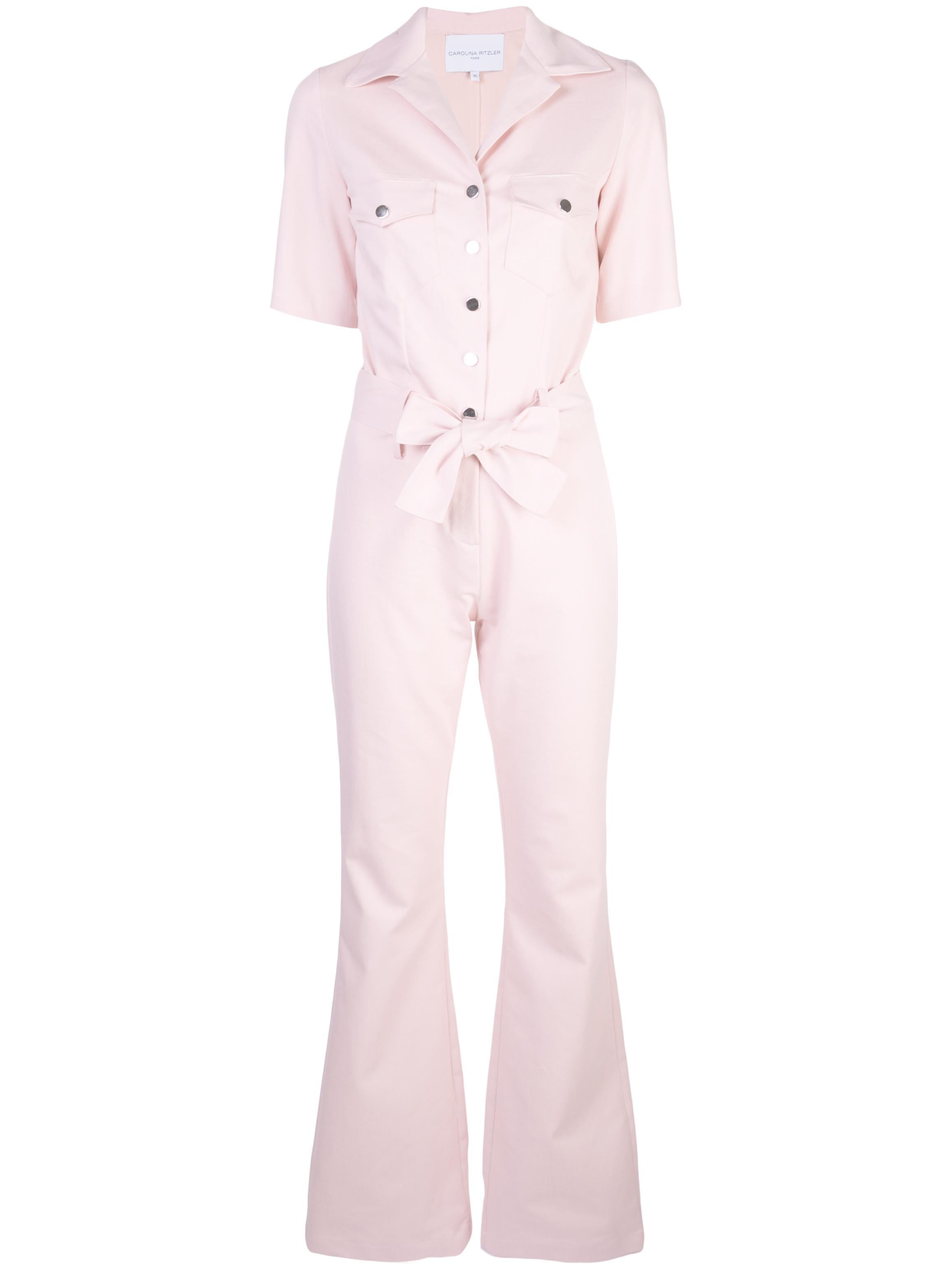 Sofia Short Sleeve Buttondown Jumpsuit Item # 719J06P