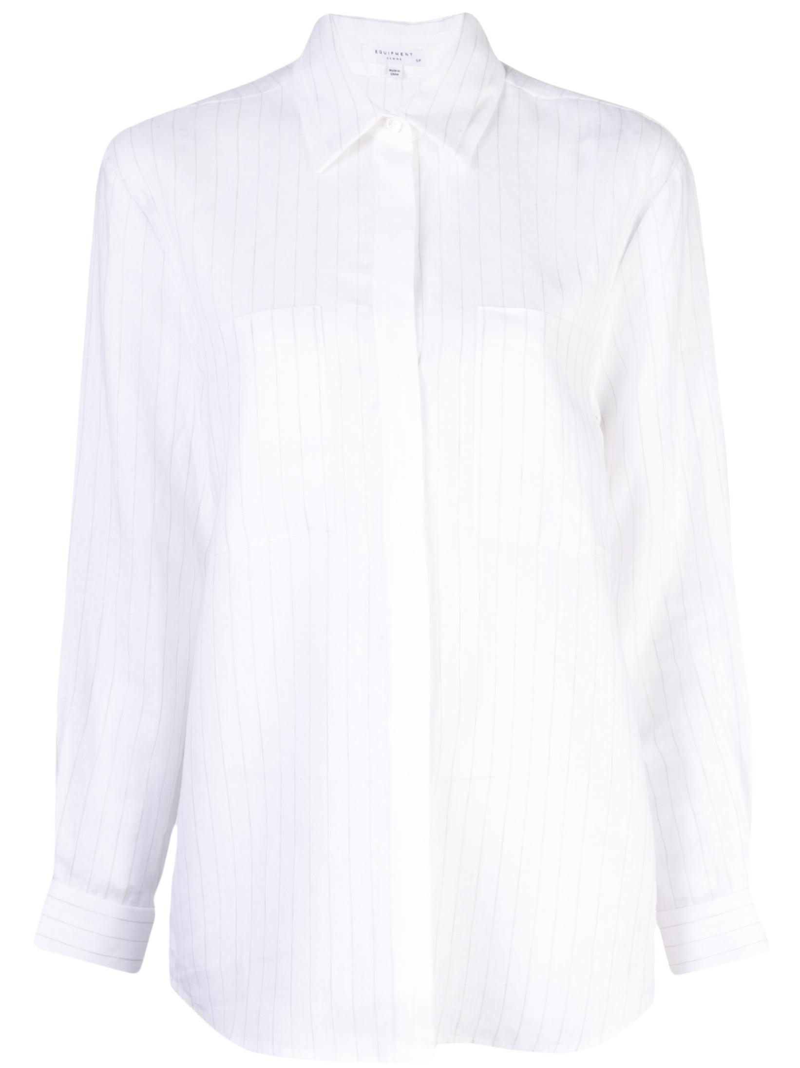 Aceline Pinstripe Buttondown Blouse