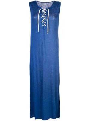 Lace-Up Front Maxi Dress