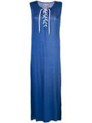 Lace- Up Front Maxi Dress