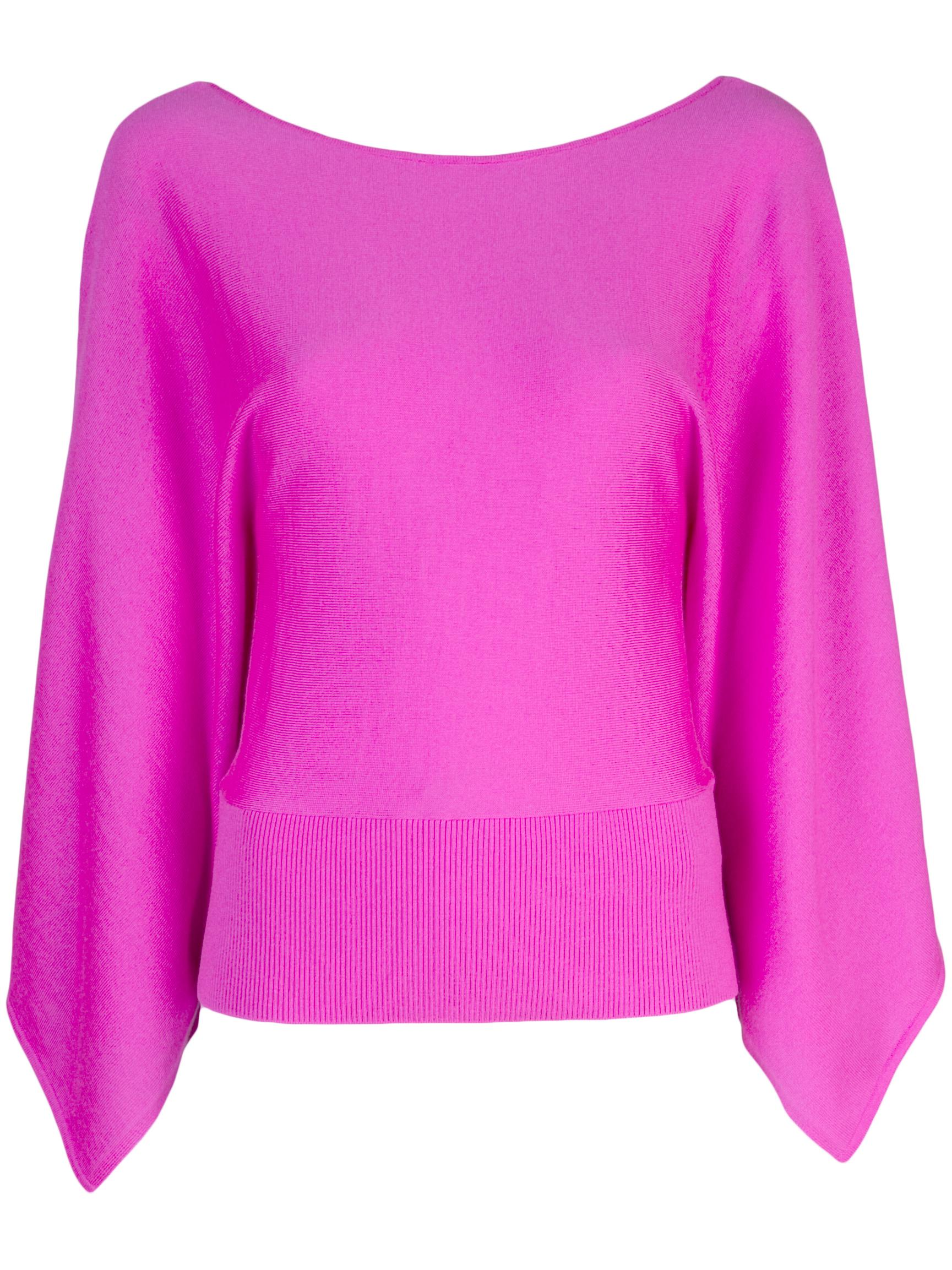 Boatneck Sweater With Drape Sleeves