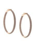 Rose Gold Hoop With Pink Stones