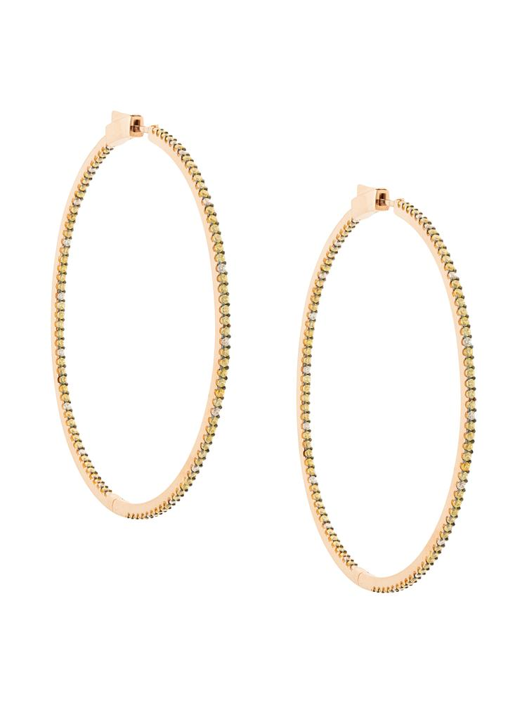 Evie Slim Hoop 14k Rose Gold Earring Item # Y927N75212