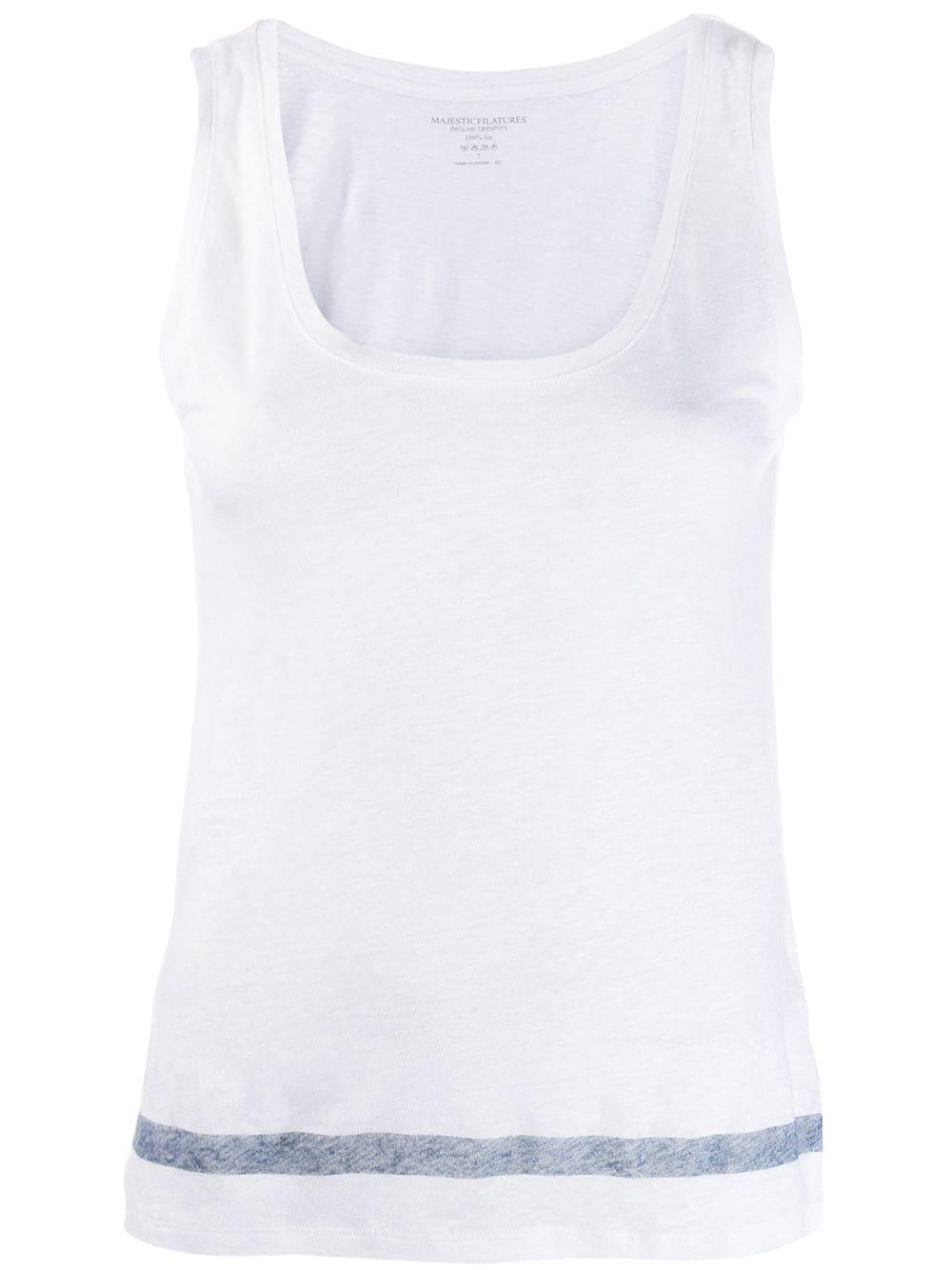 Linen Tank With Stripe Item # J083-FDE029