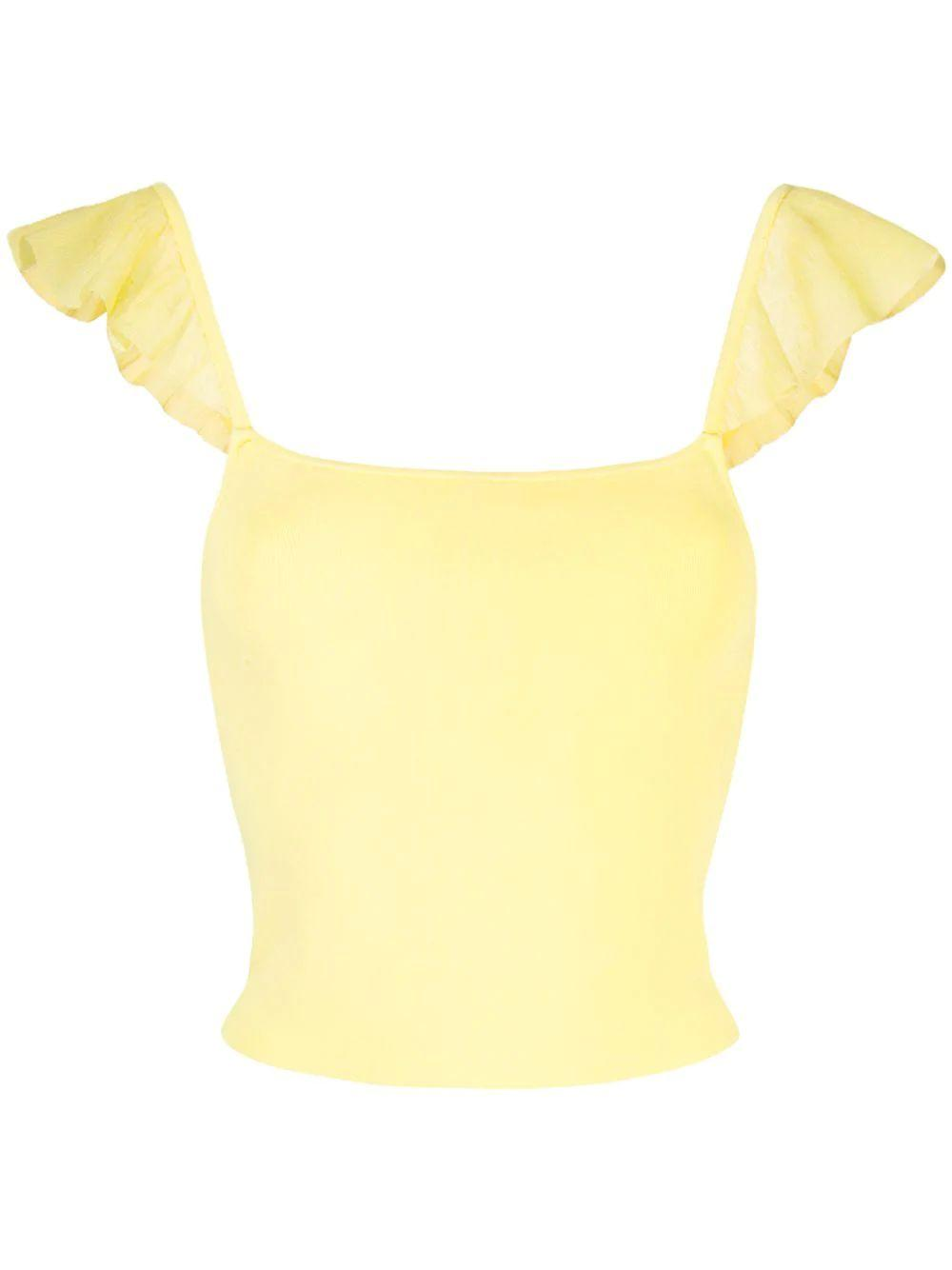 Marg Ruffle Strap Crop Top