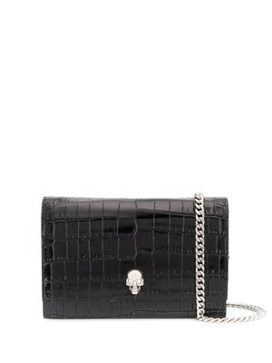 Croc Embossed Skull Mini Bag