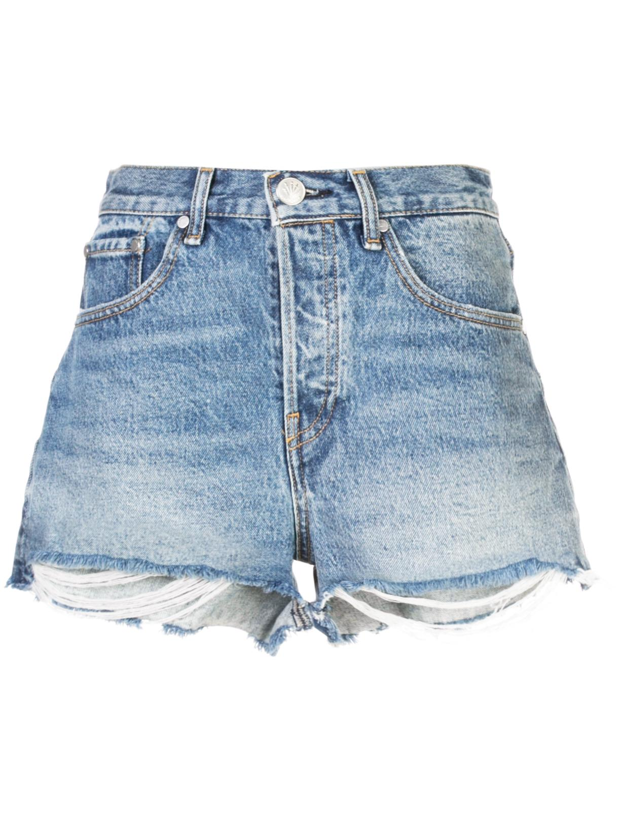 Maya High Rise Cut Off Denim Short