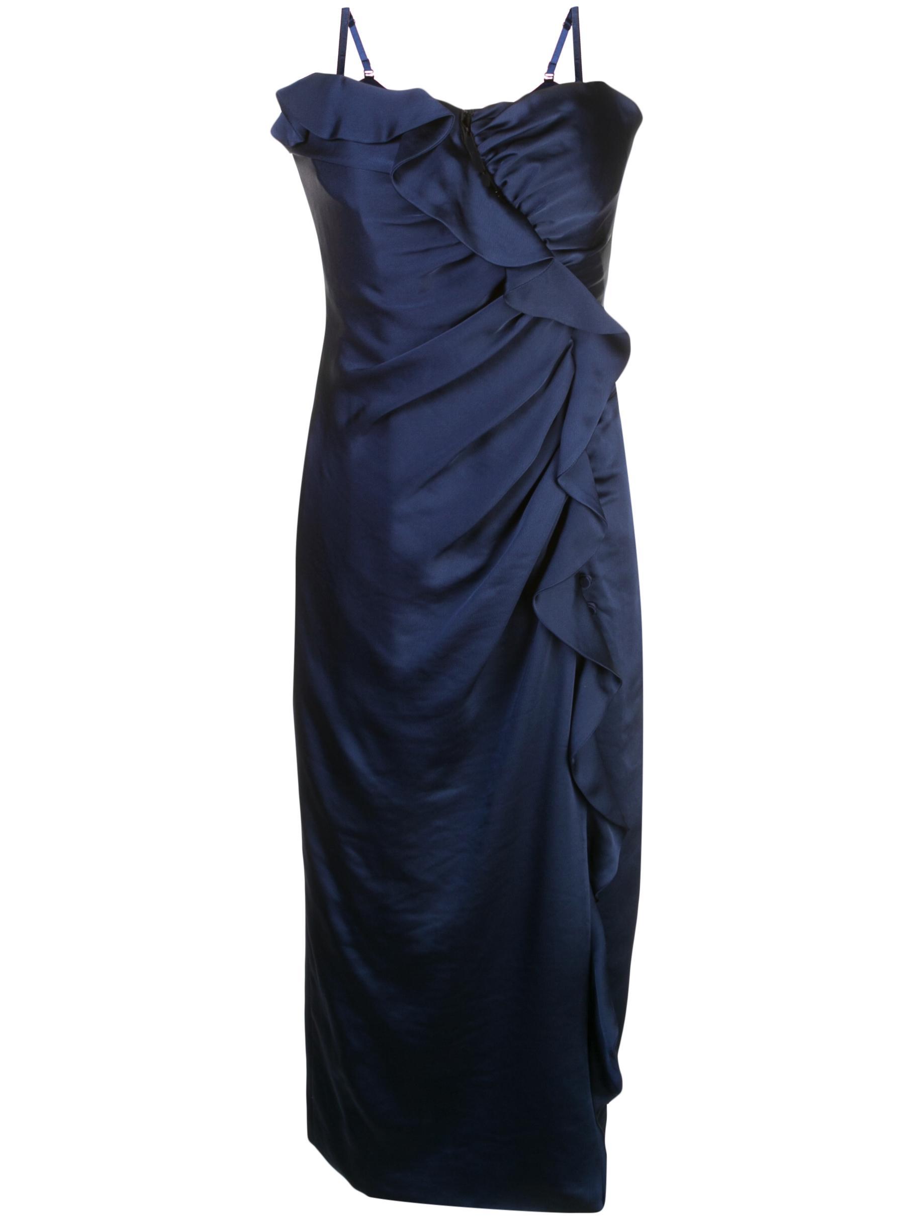 Ruffle Bustier Sateen Dress Item # 319-1026-Q