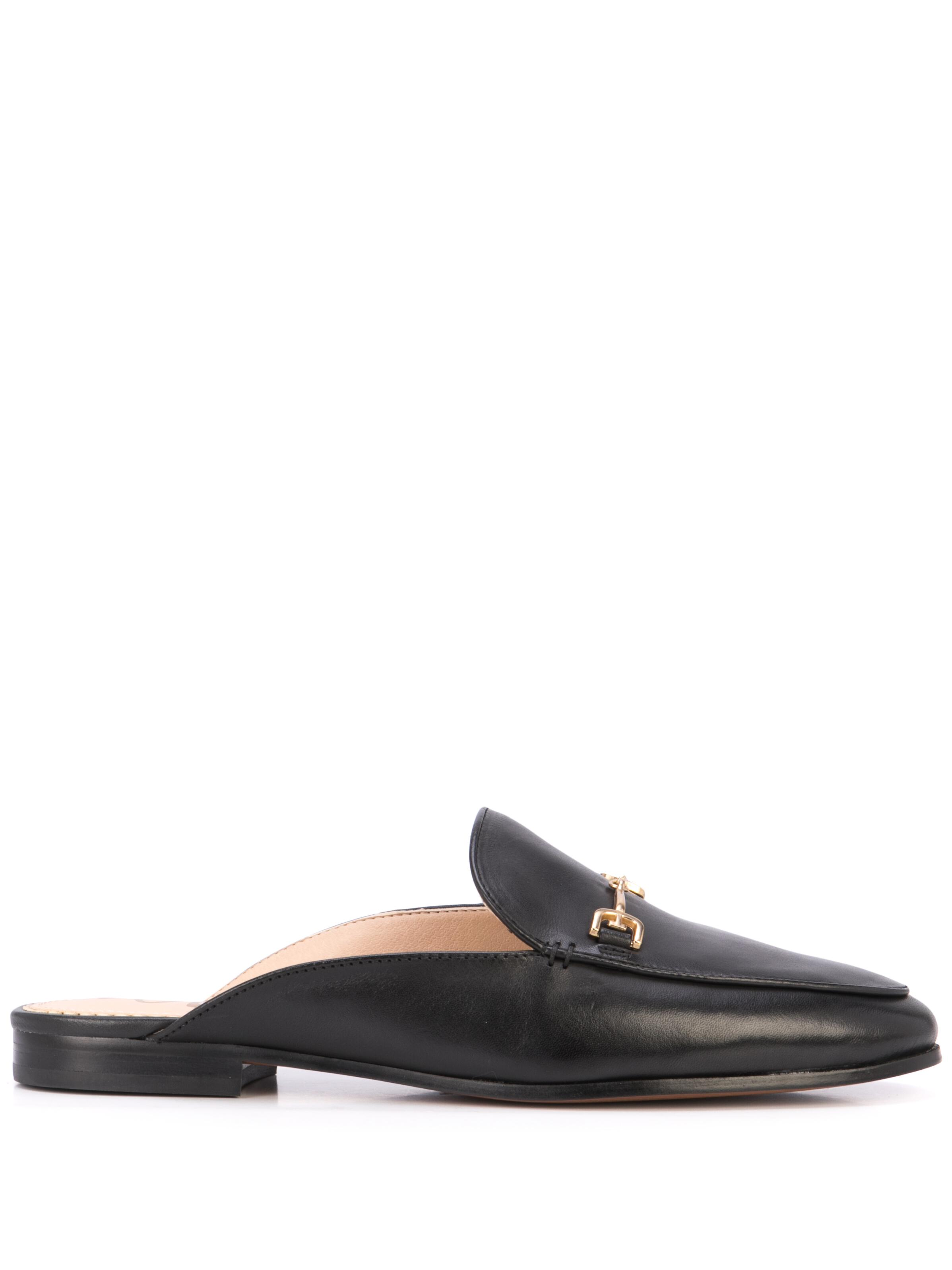 Leather Flat Backless Mule