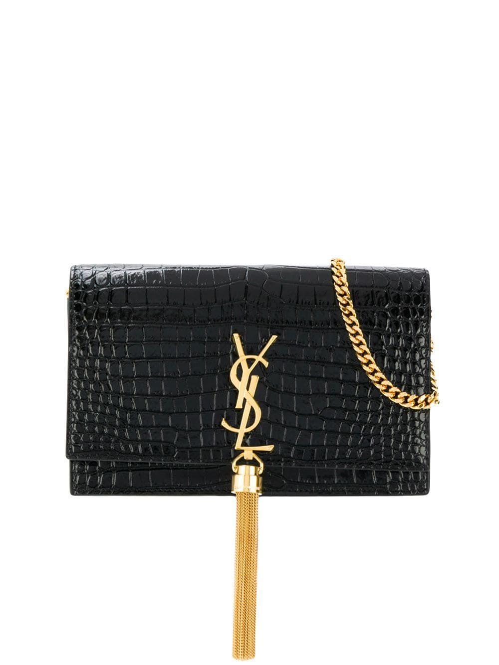 Monogram Kate Crocodile Wallet On Chain