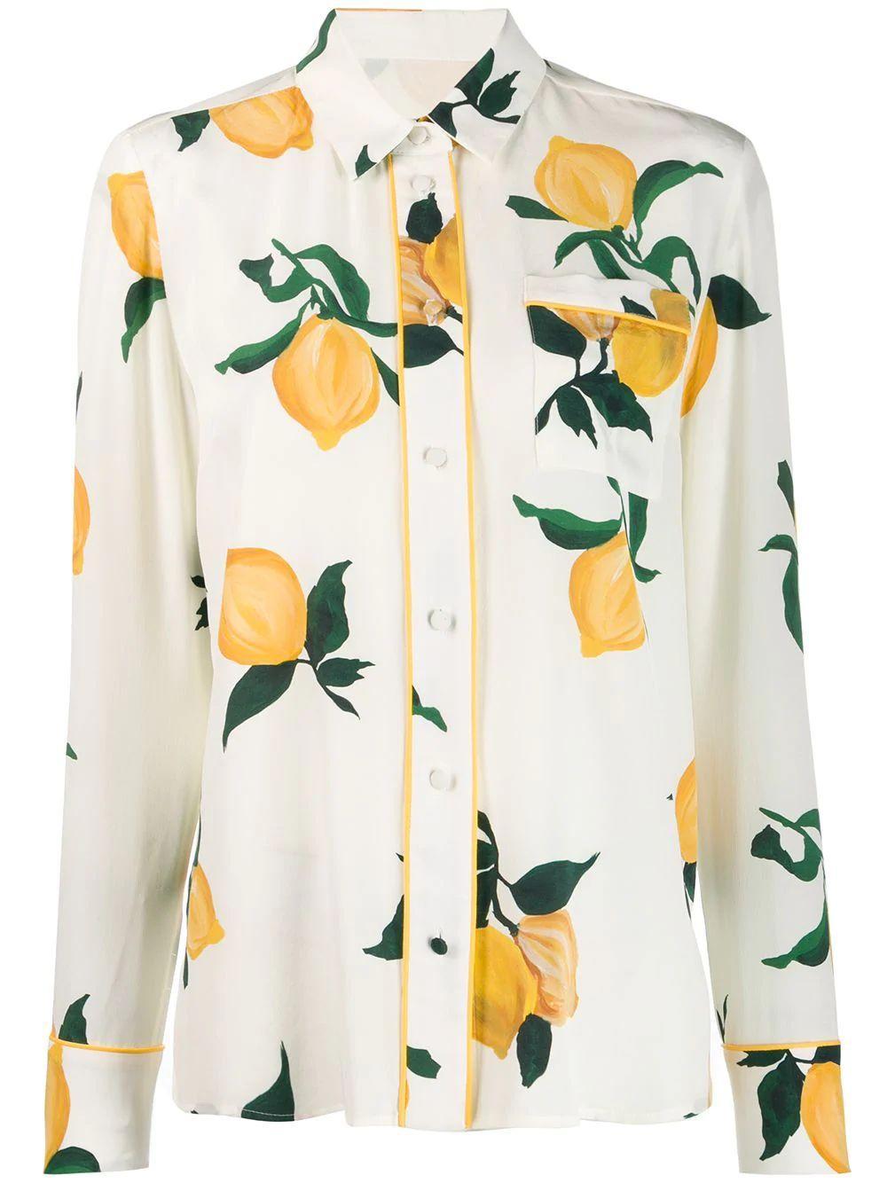 Lemon Button Down Shirt