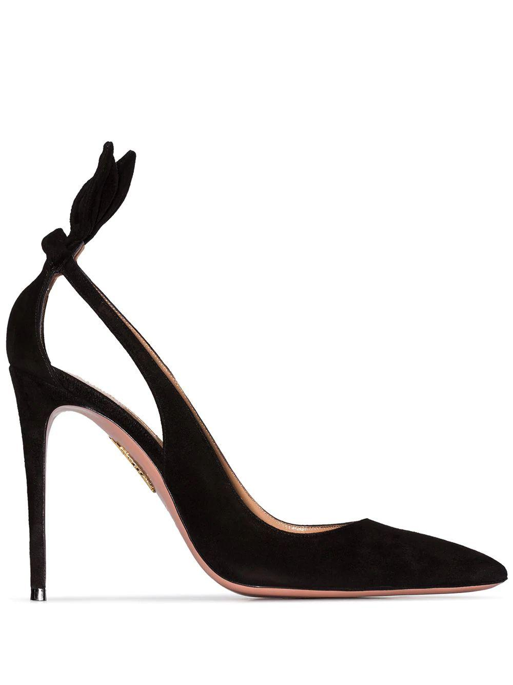 Deneuve 105mm  Suede Pump with Cutouts