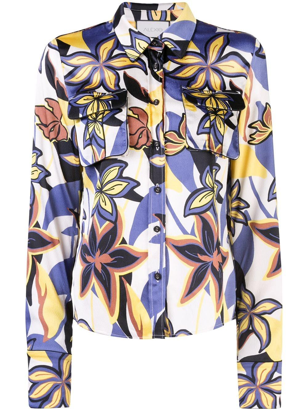Beru Long Sleeve Floral Buttondown Blouse