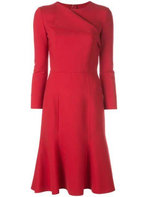 Long Sleeve Fit And Flare Dress Item # 19PN272DSW