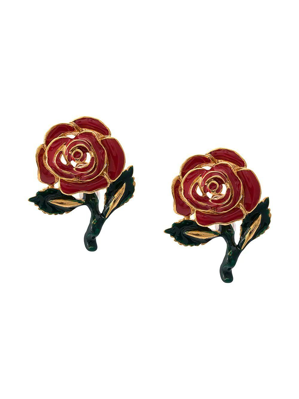 Petite Rose Resin Earring