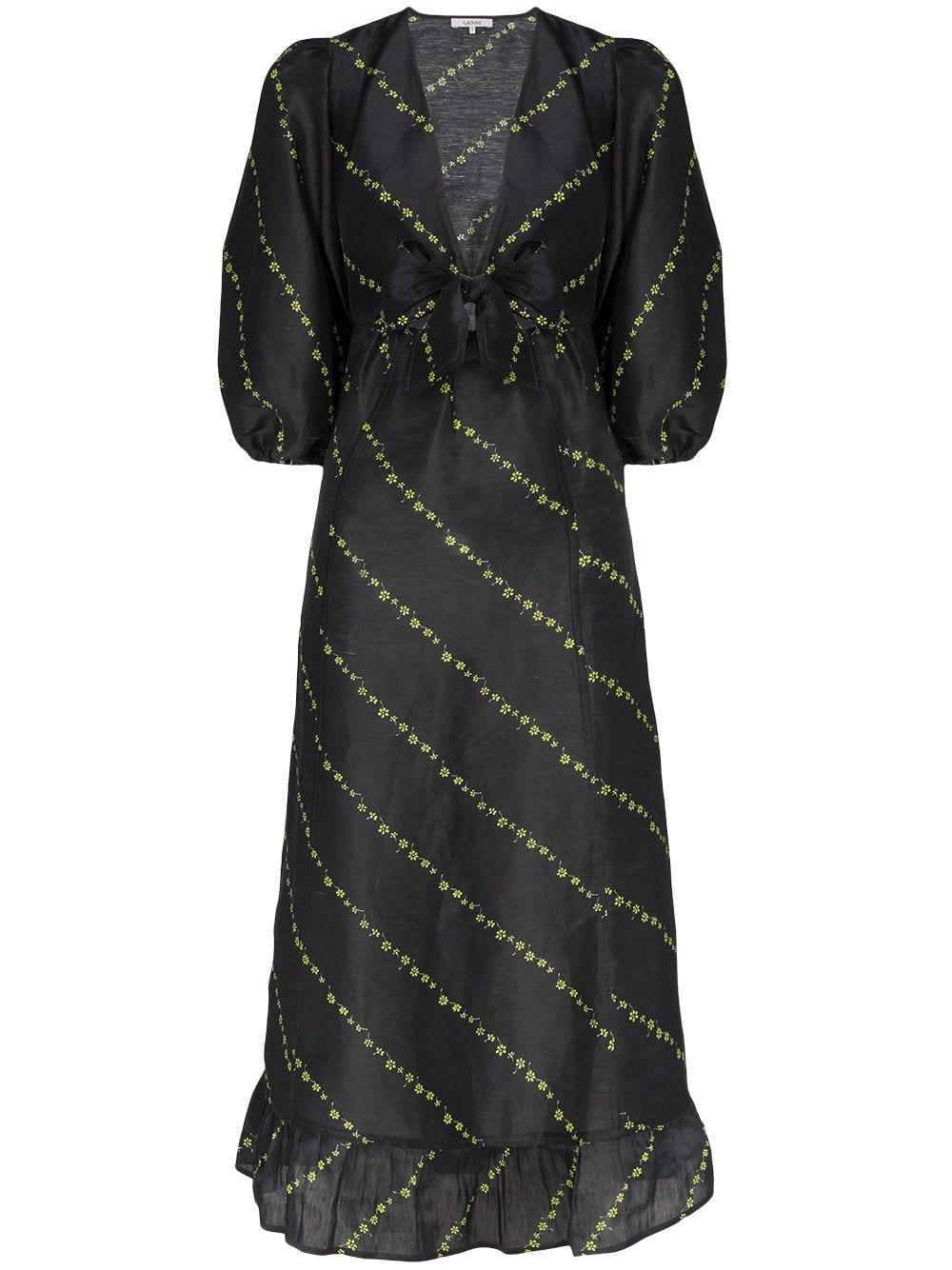 Silk Linen Midi Dress