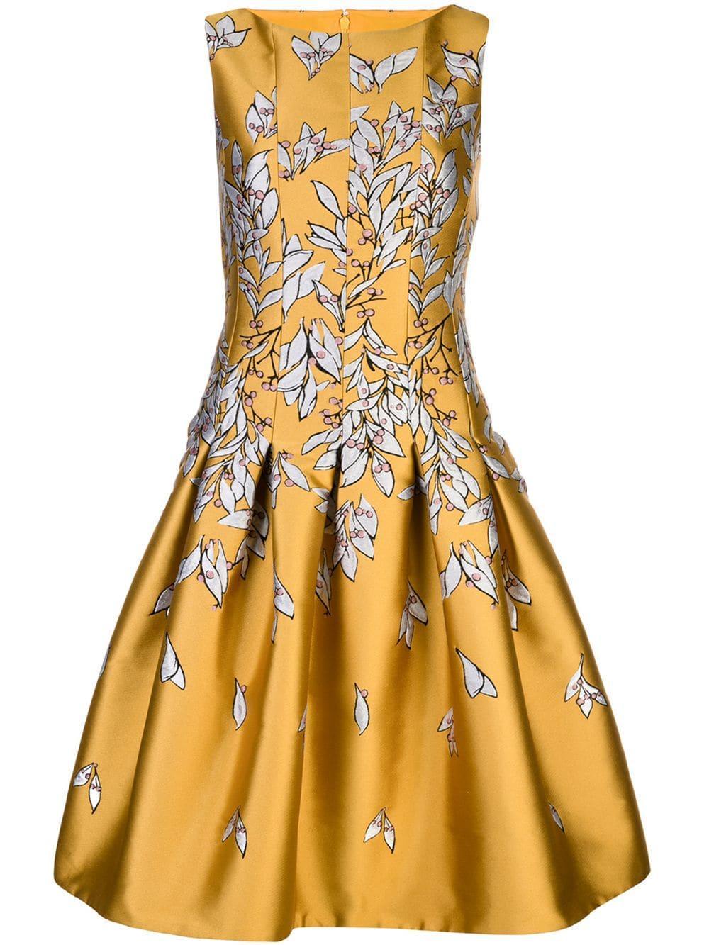Sleeve Less Tucked Bodice Sign Dress