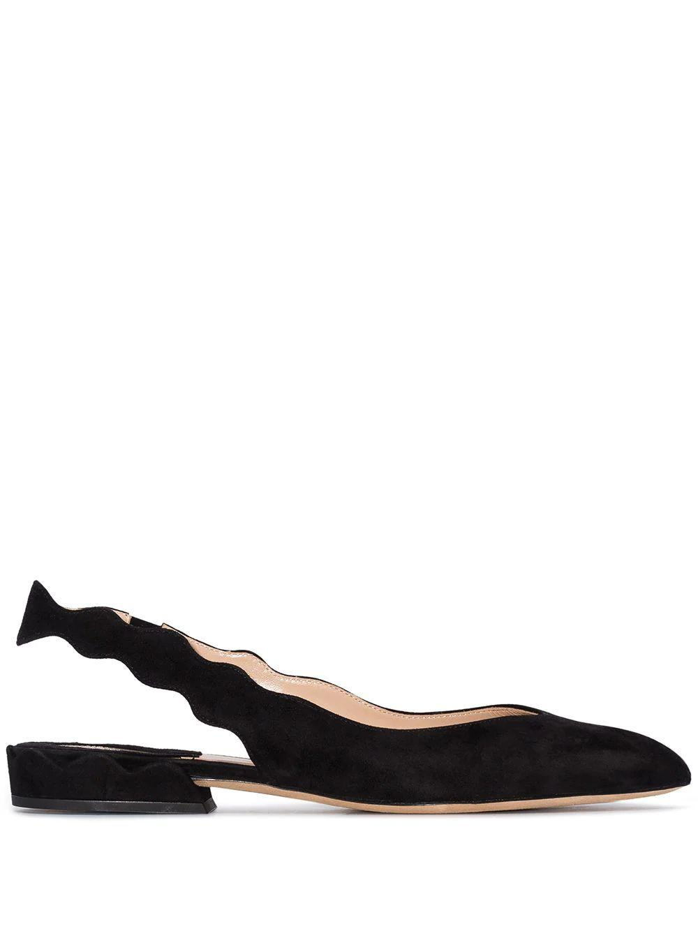 Lauren Scallop 20mm Suede Slingback Ball