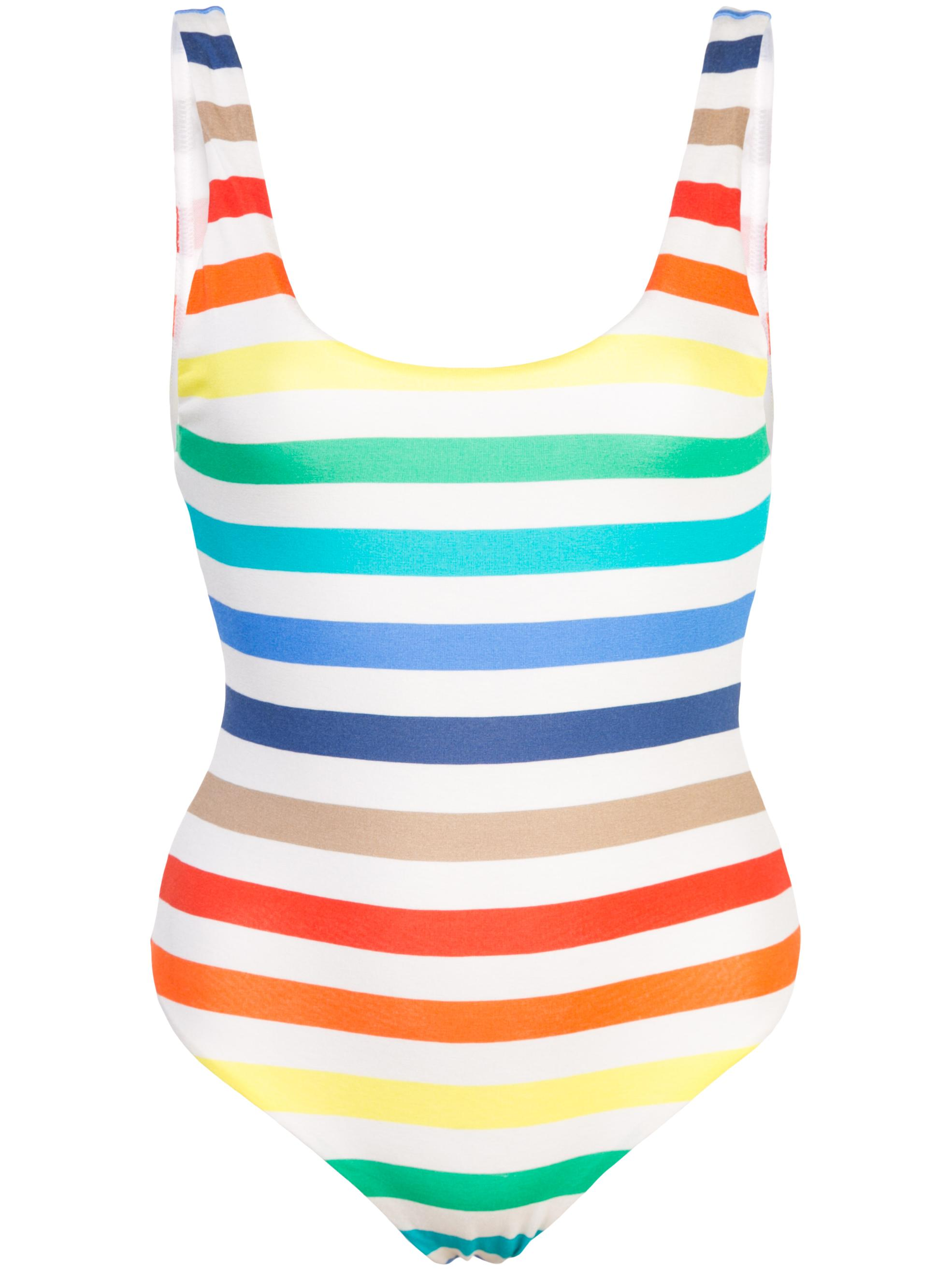 Deanne Racer Back Stripe Bodysuit