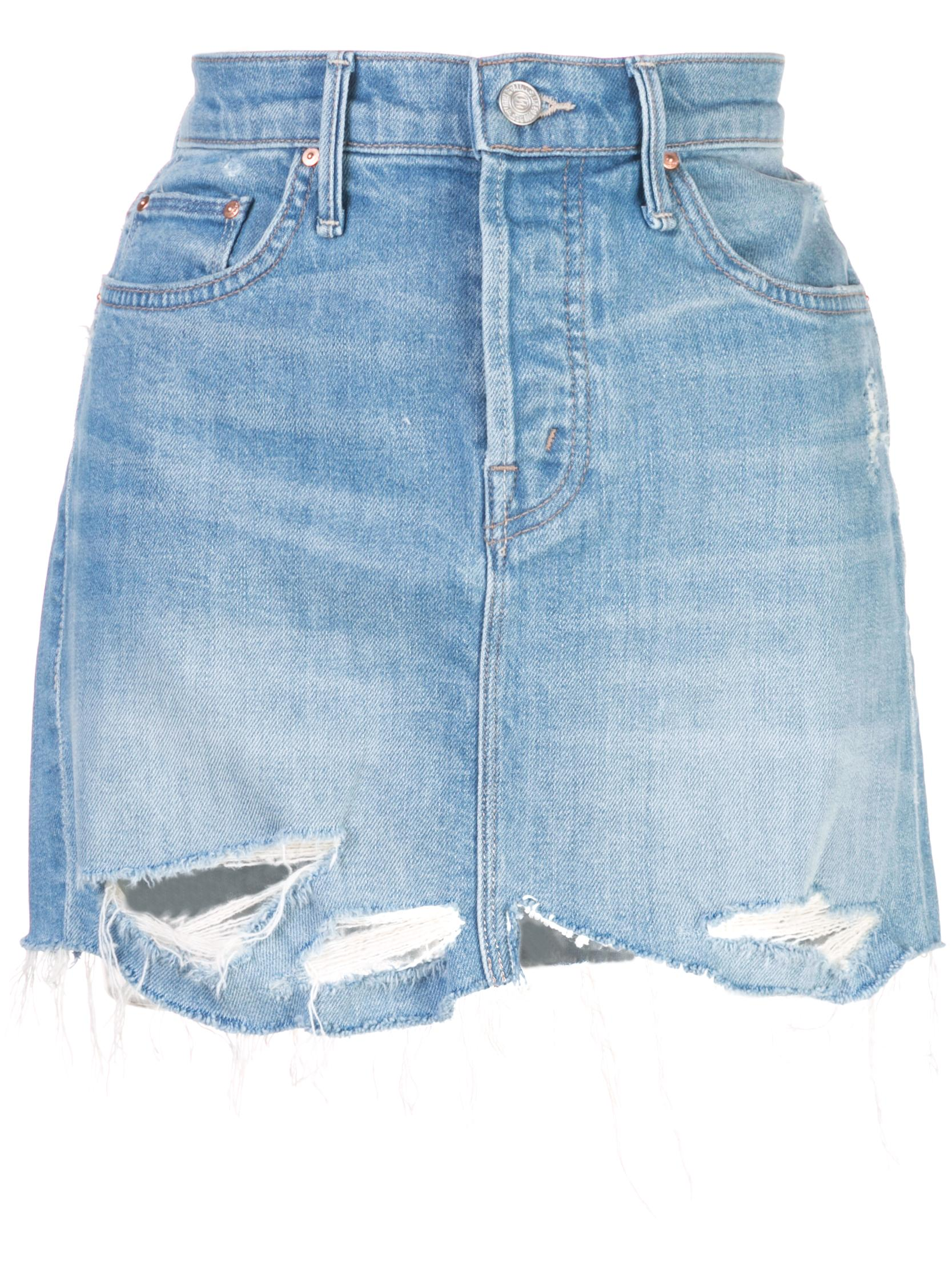 The Vagabond Mini Fray Denim Skirt