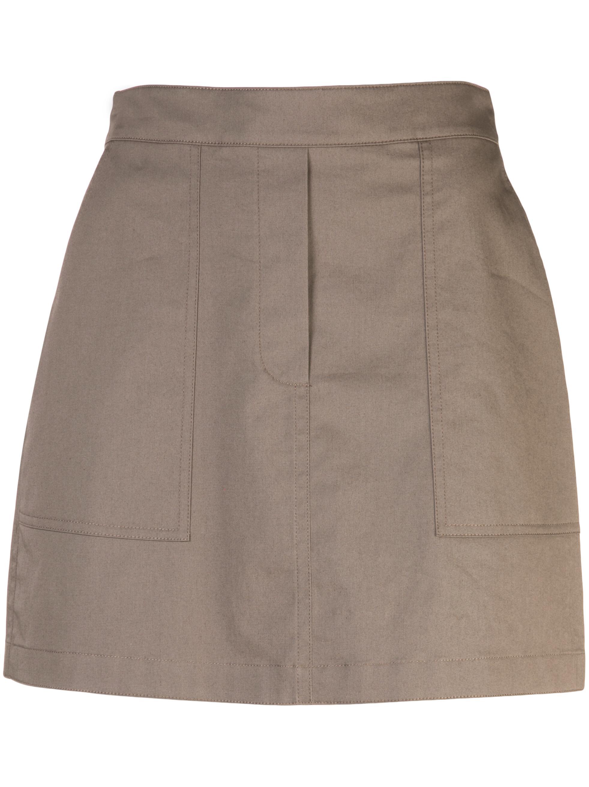 Stitched Pocket High Waist Mini Skirt
