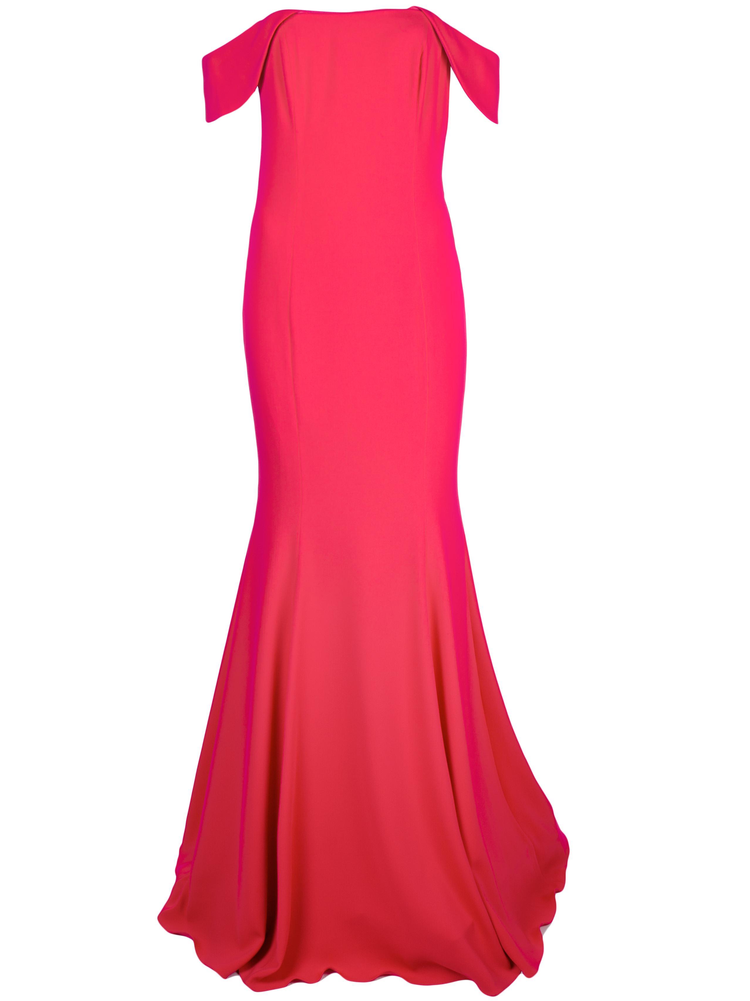 Strapless Off Shoulder Open Back Gown Item # 115601