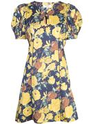Ella Floral Puff Sleeve Short Dress