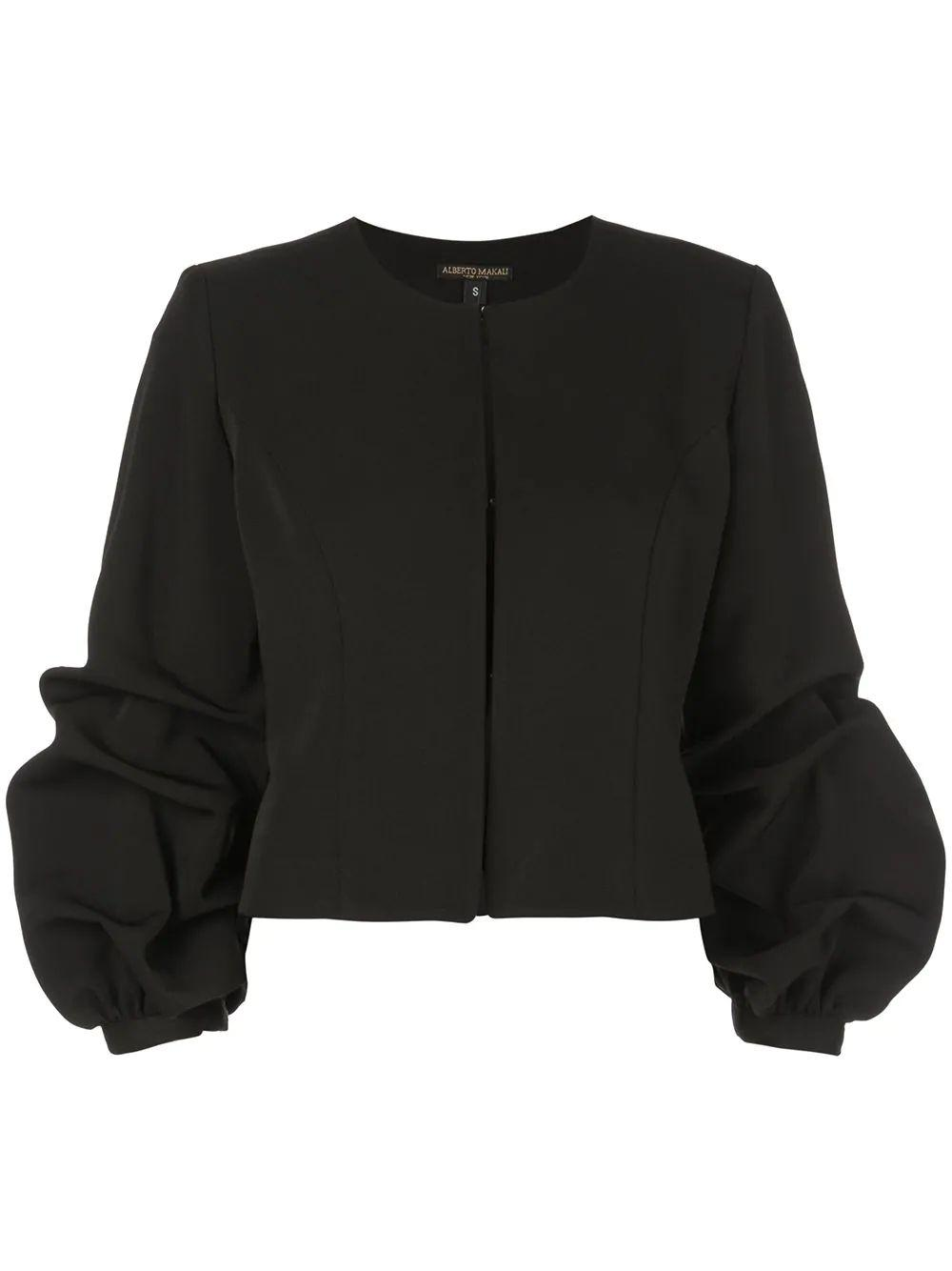 Jacket With Rouched Sleeve Item # 18222-F19