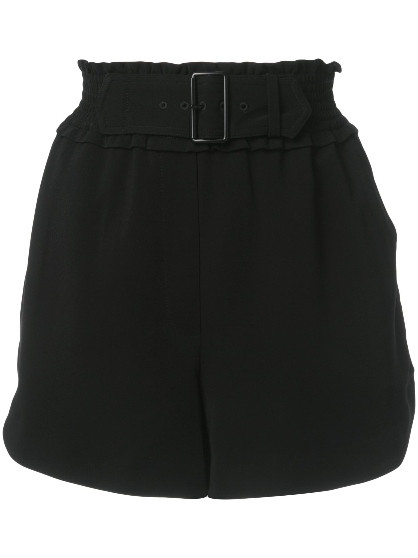 Auburn High Waist Short With Belt Item # 2PANT00343