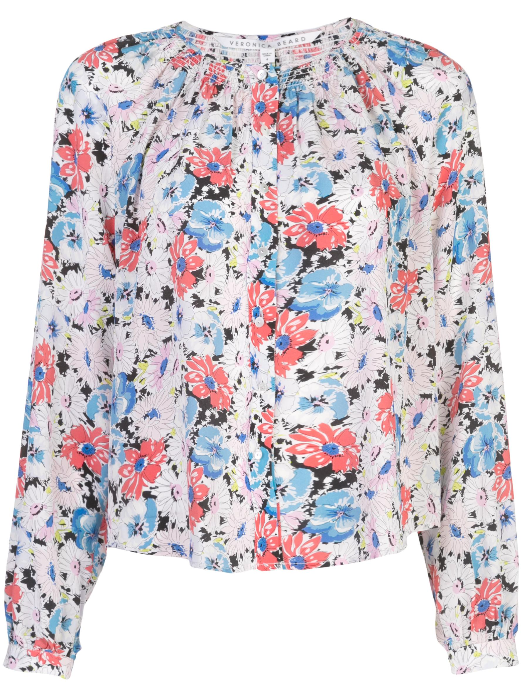 Madge Long Sleeve Floral Printed Button Up Blouse