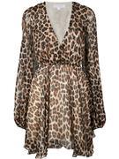 Olena Leopard Cross Front A- Line Dress